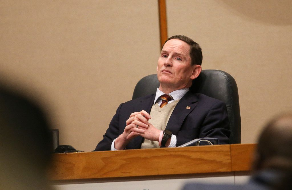 Dallas County Judge Clay Jenkins listens during a meeting of The Dallas County Commissioners Court on Tuesday, Jan. 15, 2019 at the Dallas County Administration Building in Dallas. (Ryan Michalesko/The Dallas Morning News)