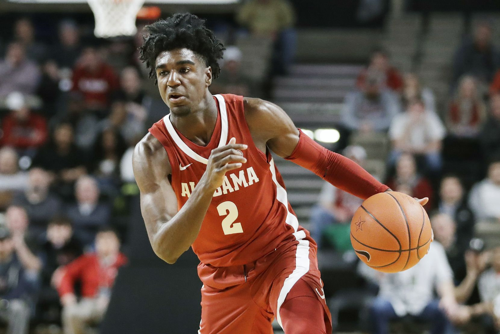 FILE - Alabama guard Kira Lewis Jr. is pictured during the first half of a game against Vanderbilt on Jan. 22, 2020, in Nashville, Tenn.