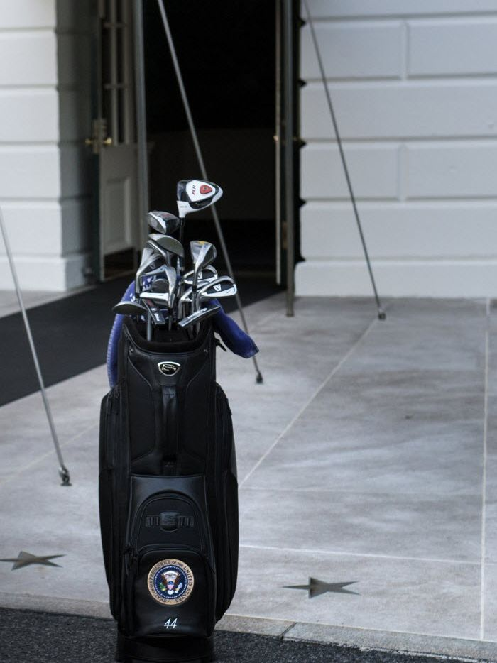 Ron Kirk golfing with 2 presidents today: Obama and Clinton
