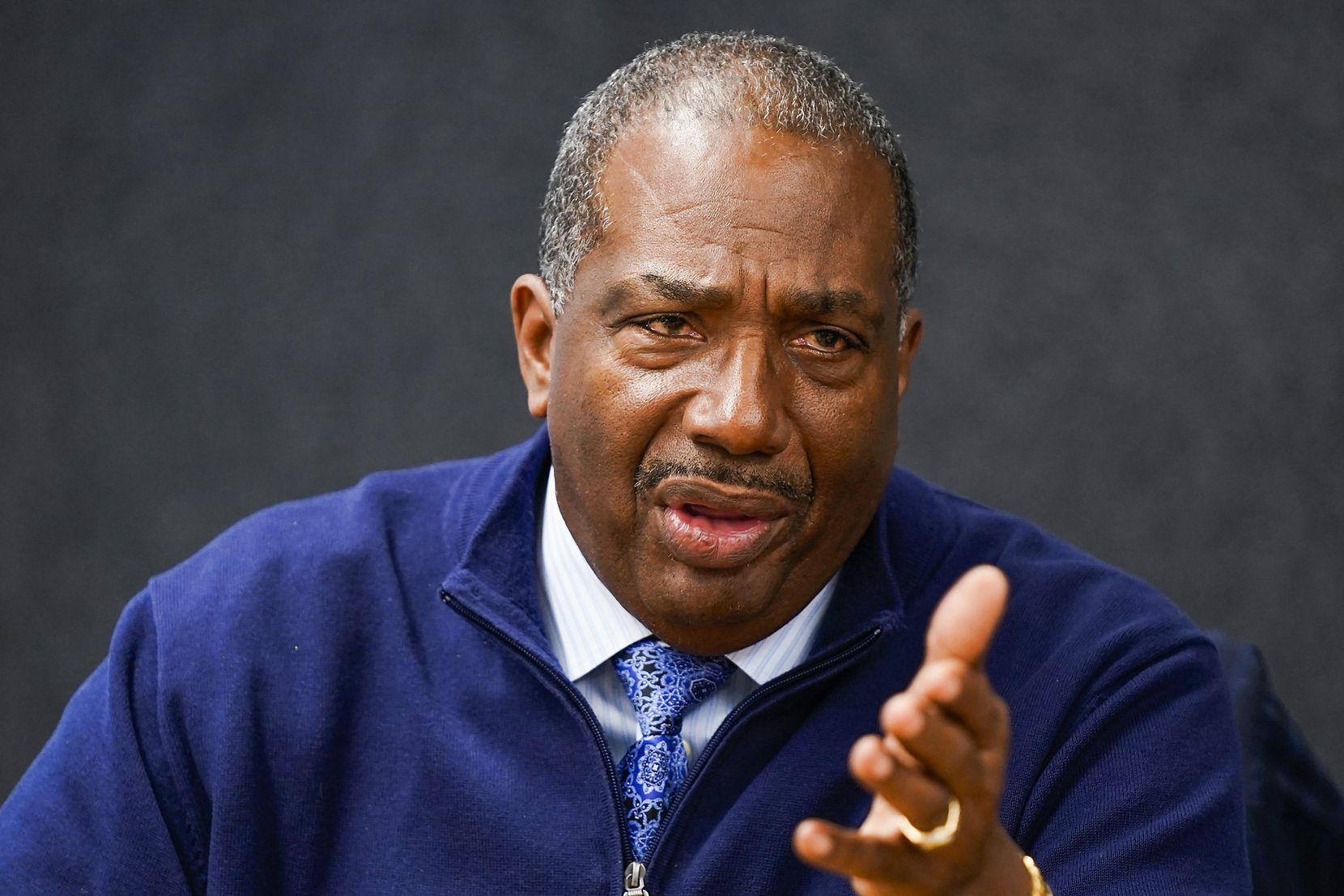 Democratic senate candidate state Sen. Royce West D-Dallas during a meeting with the The Dallas Morning News editorial board on Wednesday, Feb. 5, 2020, in Dallas. (Smiley N. Pool/The Dallas Morning News)