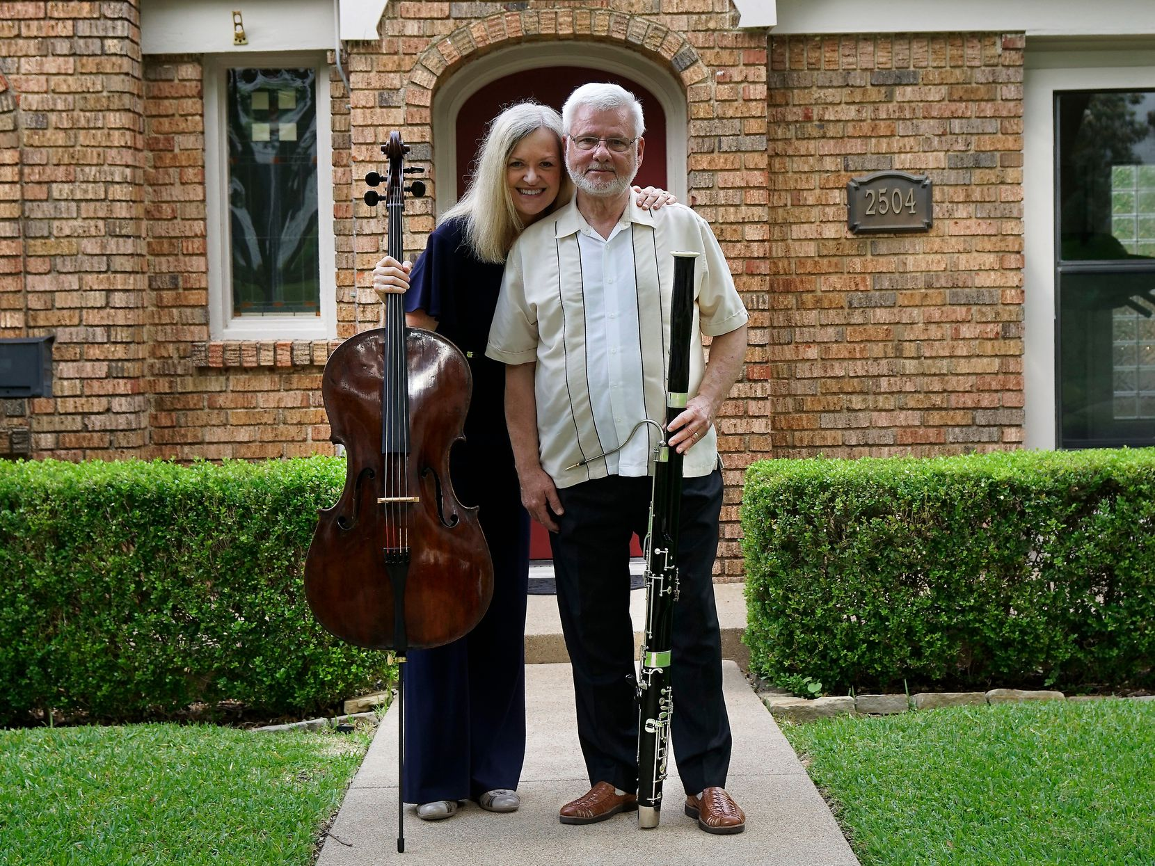 Karen and Kevin Hall, shown at their home in Fort Worth, are looking forward to not stressing about their music in retirement.