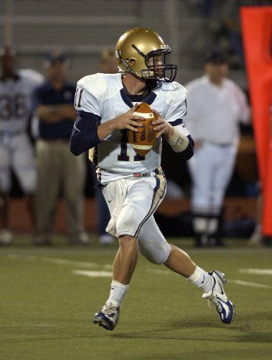 ORG XMIT: DRC0421224679 Little Elm QB Cole Beasley drops back to pass aginst Lake Dallas.