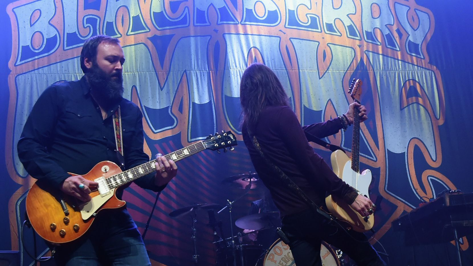 Benji Shanks joins Brit Turner and Charlie Starr of Blackberry Smoke performs at The Tabernacle on Nov. 24, 2017, in Atlanta.