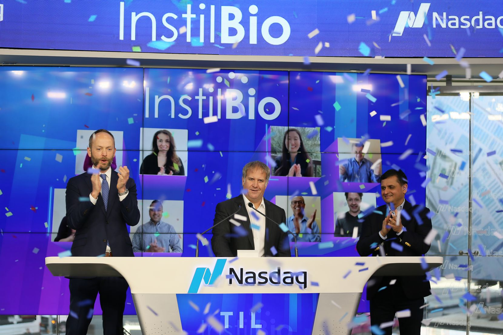 Dallas-based Instil Bio Inc. went public this year. CEO Bronson Crouch rang the opening bell at Nasdaq.