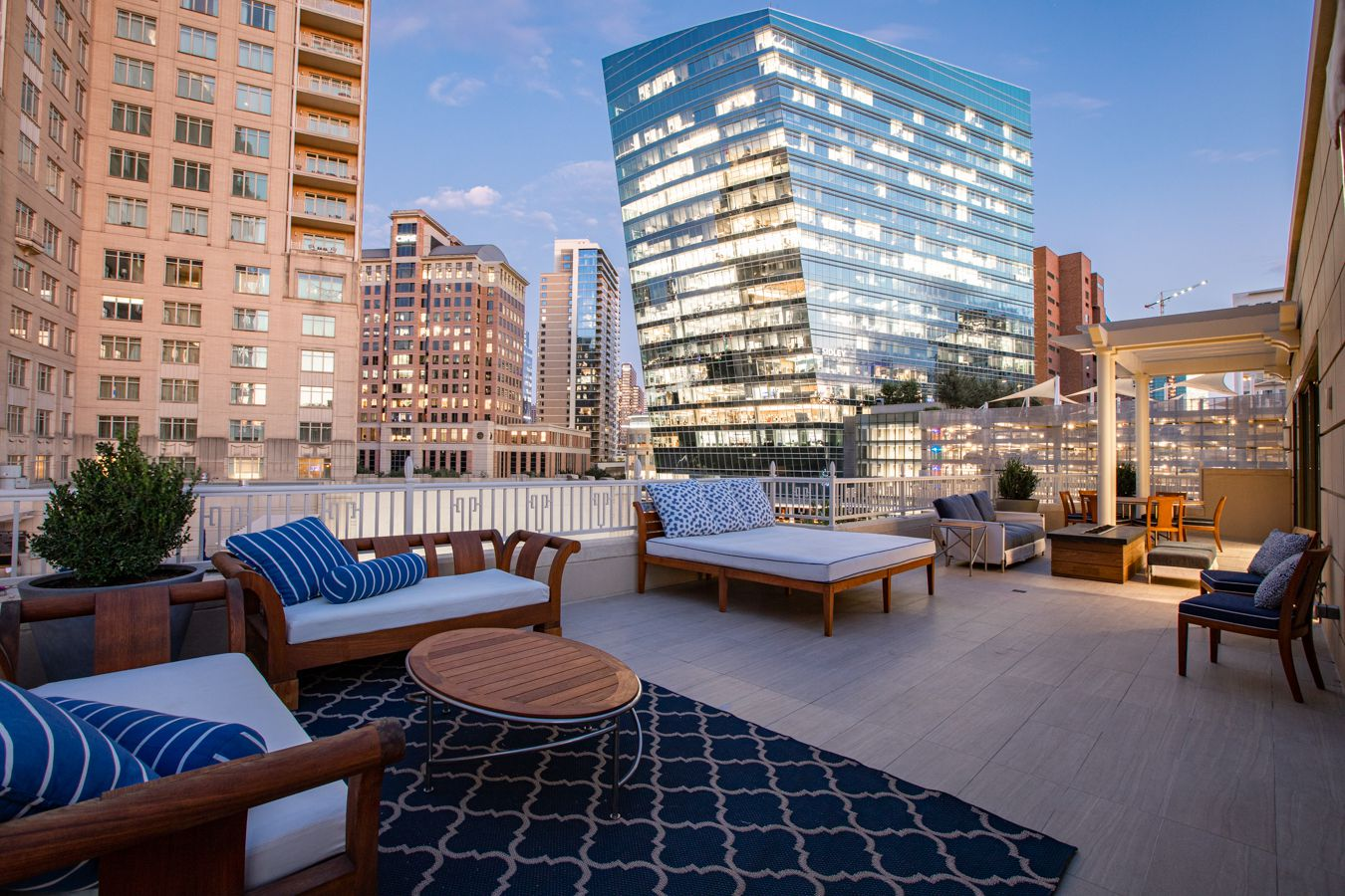 The rooftop terrace at Regency Row.
