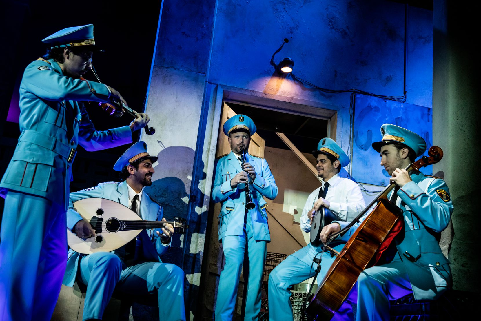 """An Egyptian police band mistakenly lands in a podunk Israeli burg in the hit Broadway musical """"The Band's Visit,"""" now touring North America."""