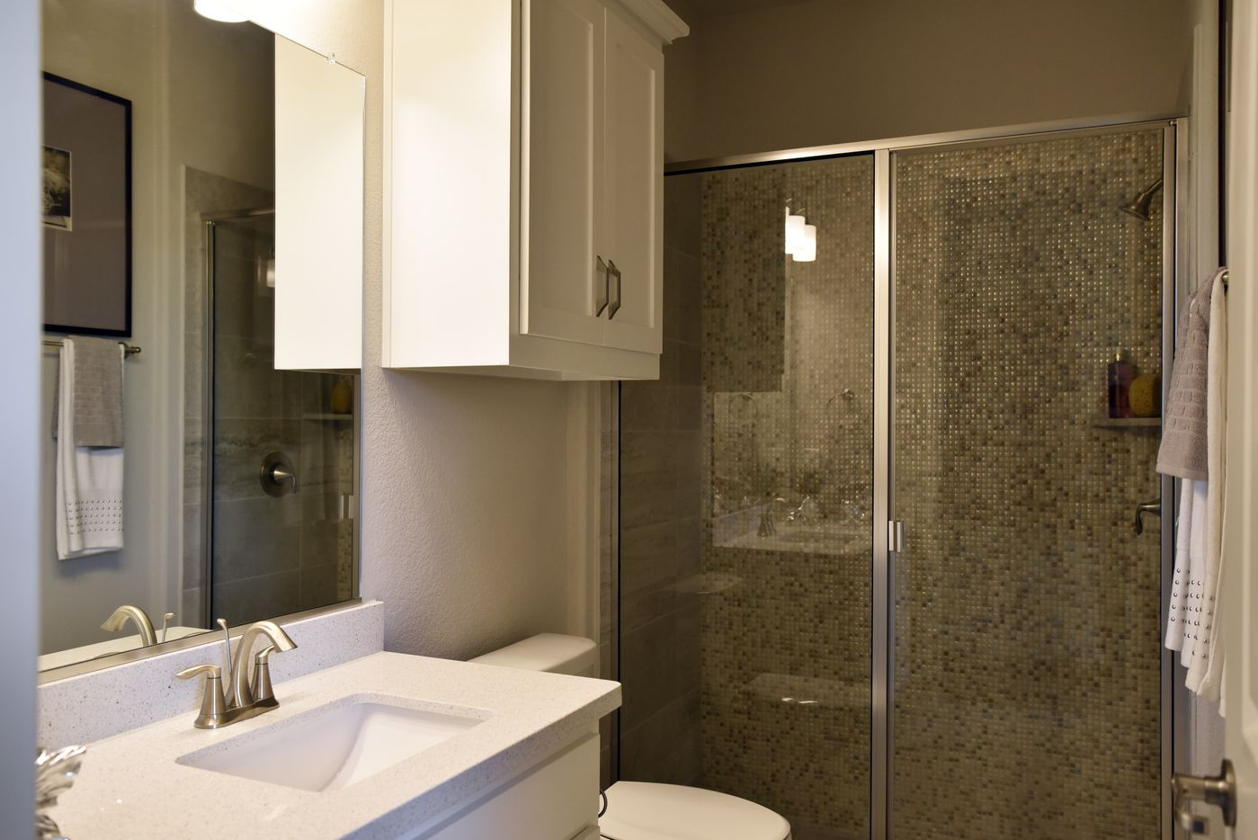 The accessible bathroom inside the extra suite in Lennar's NextGen home.