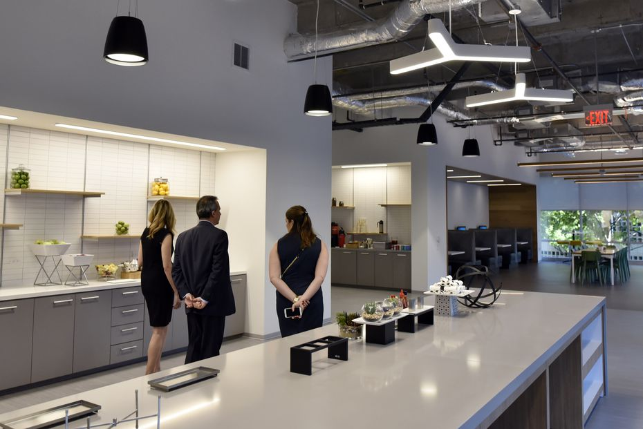 A break room inside the new offices of McKesson in Irving.