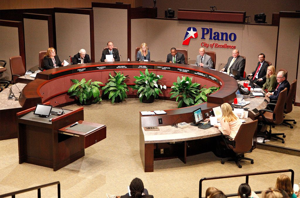 The Plano City Council on Monday, April 9, 2018.