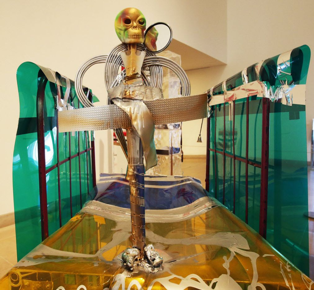 The Isa Genzken retrospective at the Dallas Museum of Art on October 1, 2014.  (File Photo/Staff)