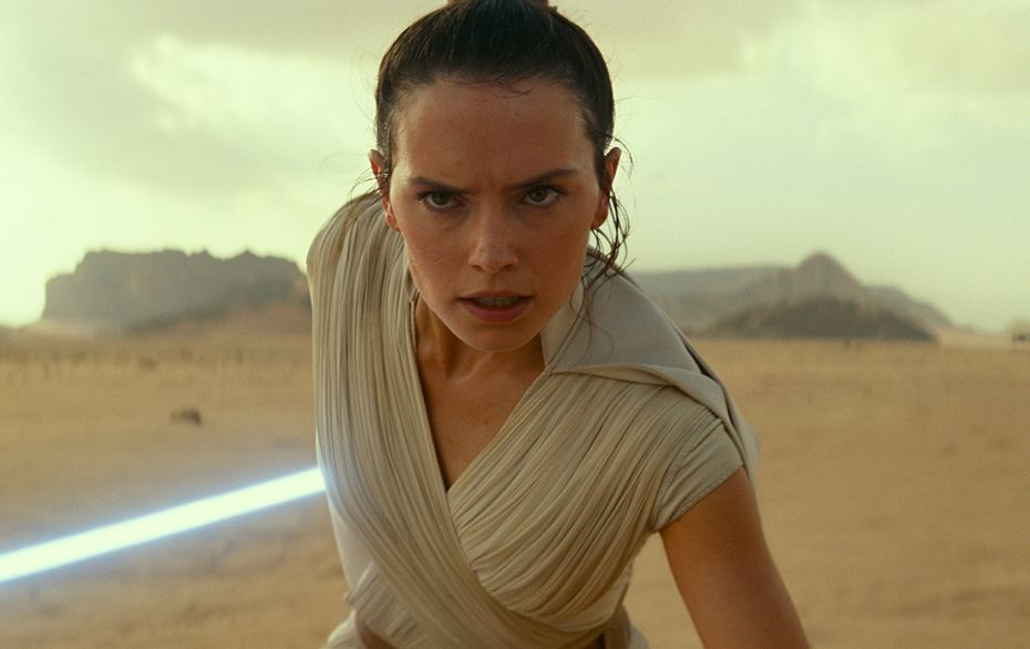 Daisy Ridley en The Rise of Skywalker.