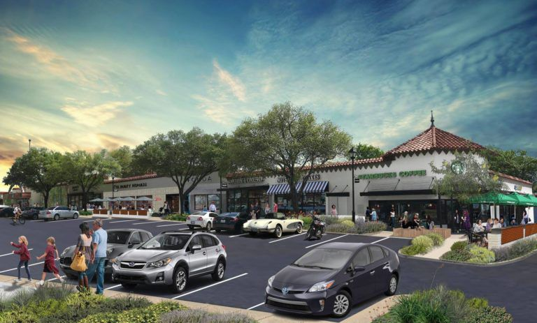 Artist's rendering of the renovations to the parking lot.