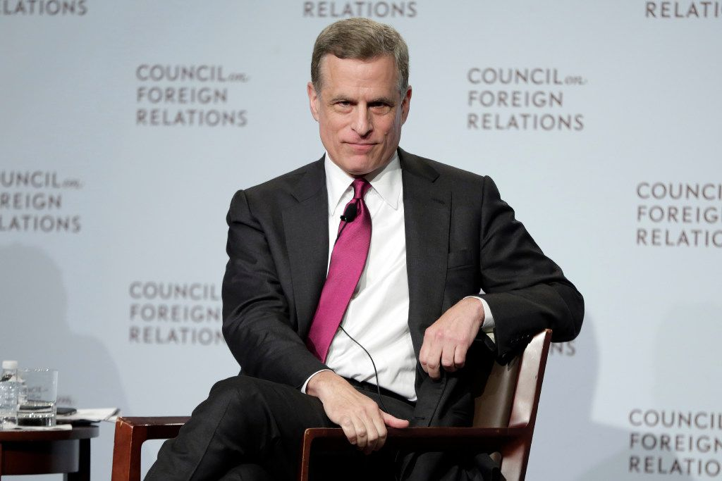Federal Reserve Bank of Dallas President Robert Kaplan speaks to a breakfast meeting at the Council on Foreign Relations, in New York, Wednesday, May 31, 2017. (AP Photo/Richard Drew)