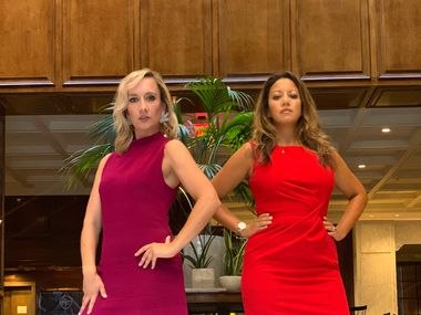 Teresa Heidt (left) and Mary King-Moore published their first novel, Personal Appearances are Everything, last fall. It's loosely based on their experiences working at Neiman Marcus and other luxury retailers.