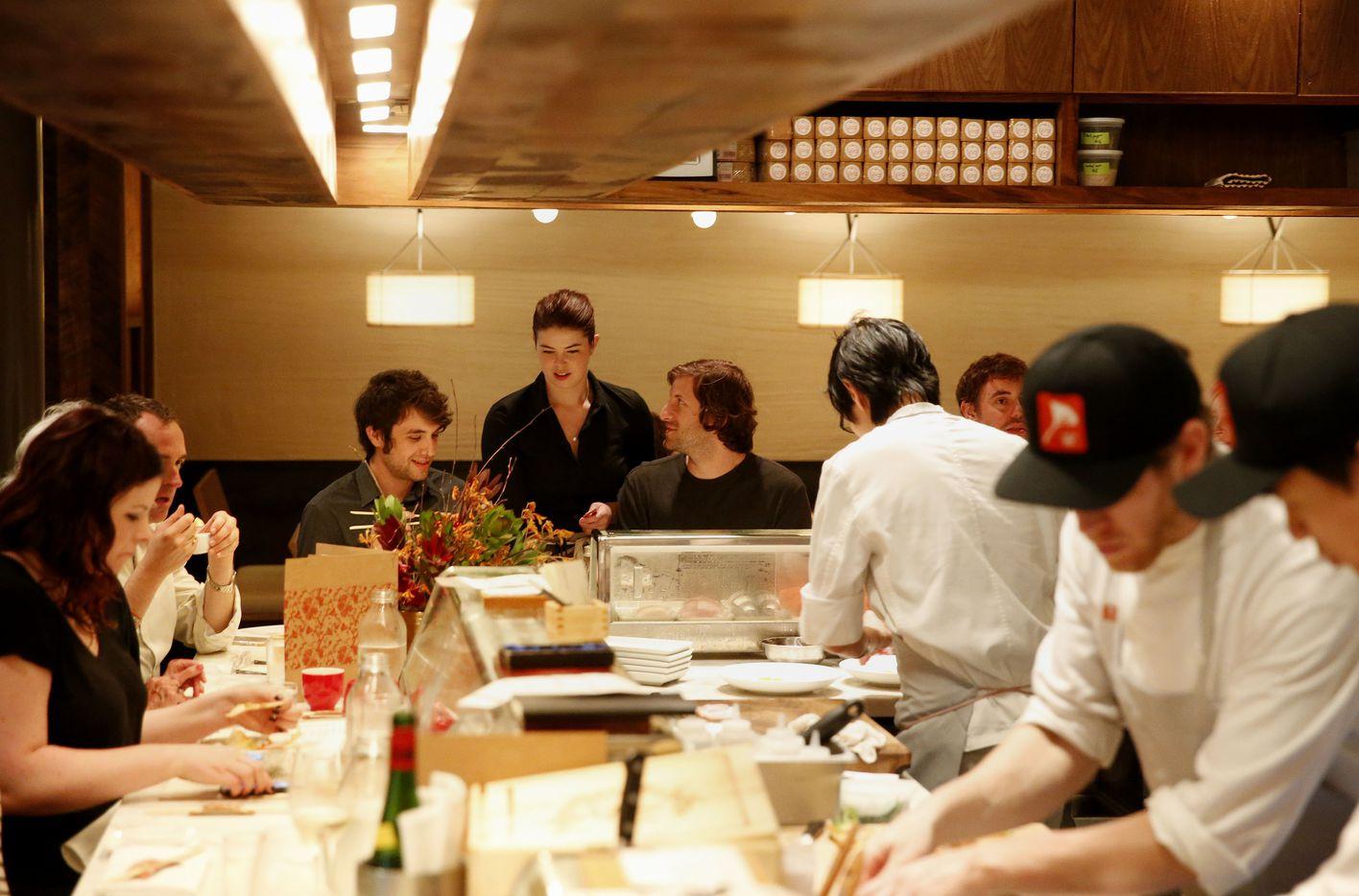 The sushi bar at Uchi