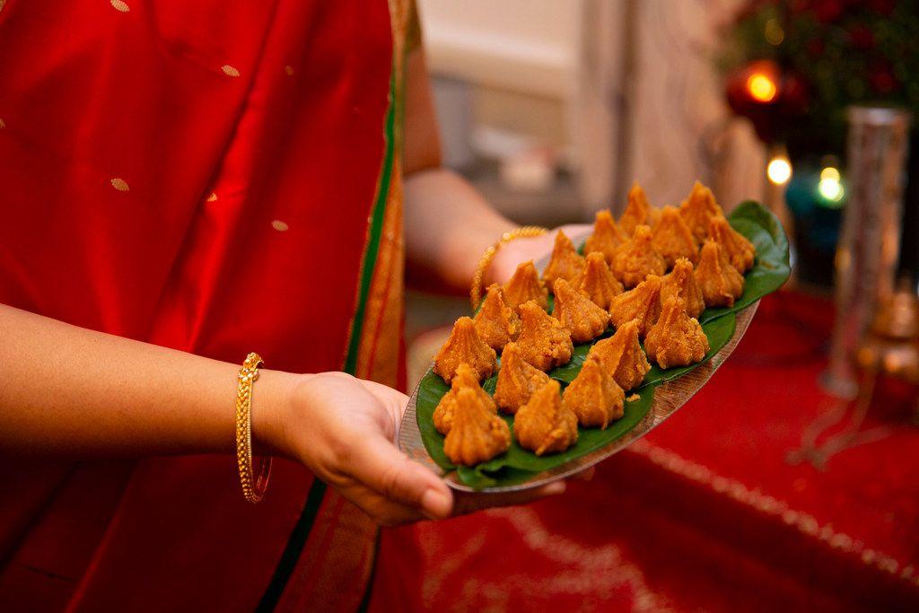 Sapna Punjabi-Gupta displays modak, a sweet treat.