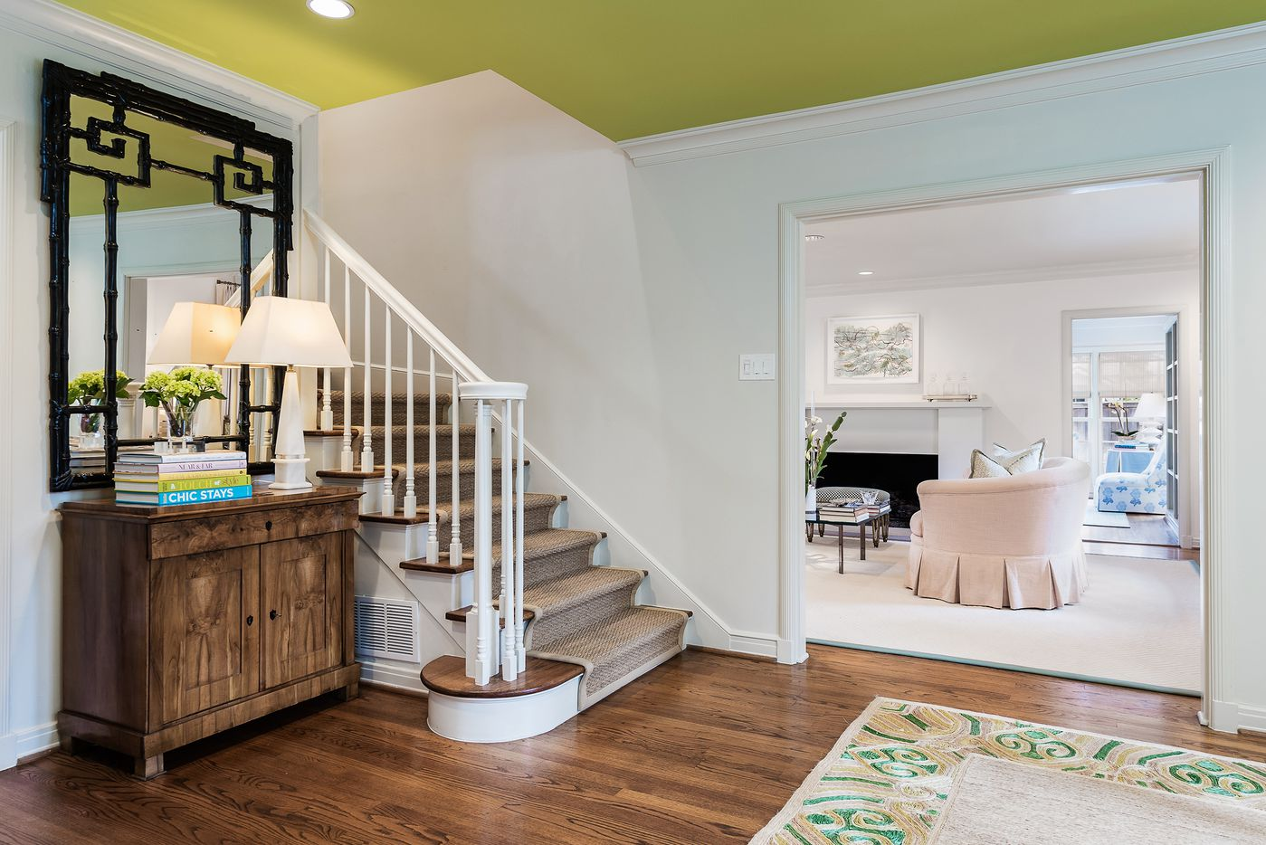 Colorful entryway of 5845 Lupton Drive.