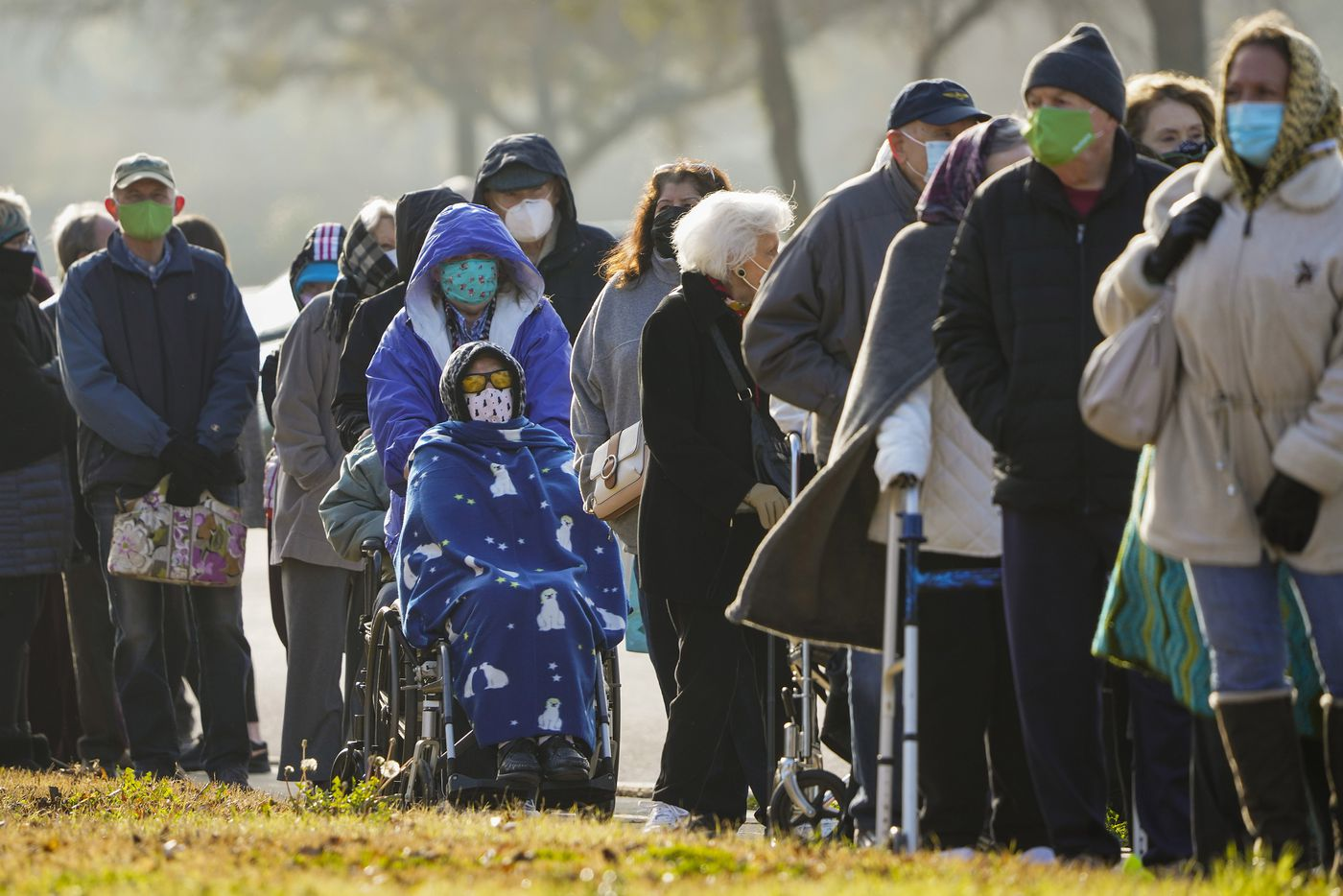 On Monday, January 11, 2021, people lined up at Dallas Fair Park to receive the COVID-19 vaccine. It was a cold morning. Dallas County launched its first