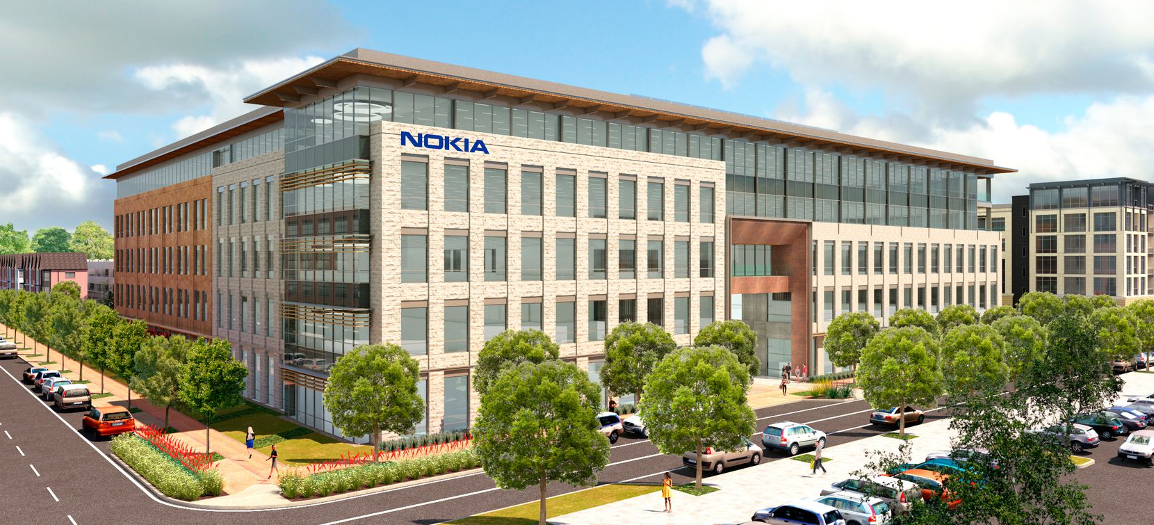 Nokia has rented 350,000 square feet in two buildings in Cypress Waters.