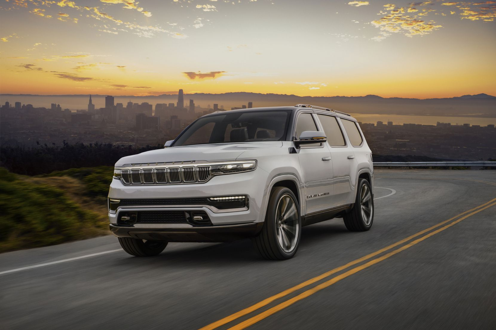 This concept model is reportedly going into production for next year's relaunch of the Jeep Grand Wagoneer.