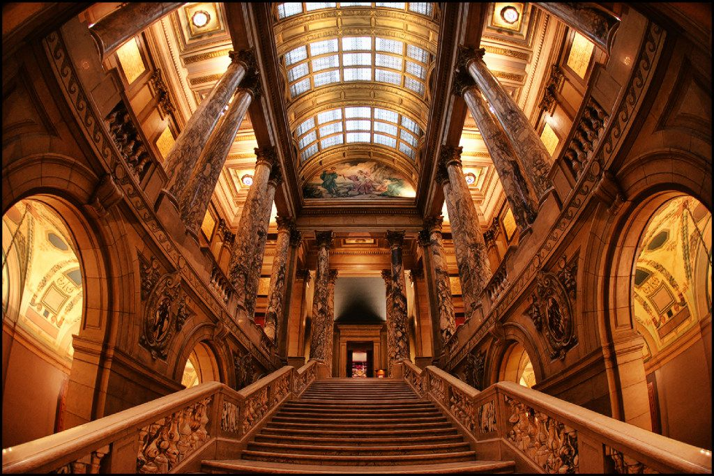 The Minnesota State Capitol in St. Paul, including its majestic interior, was just renovated.