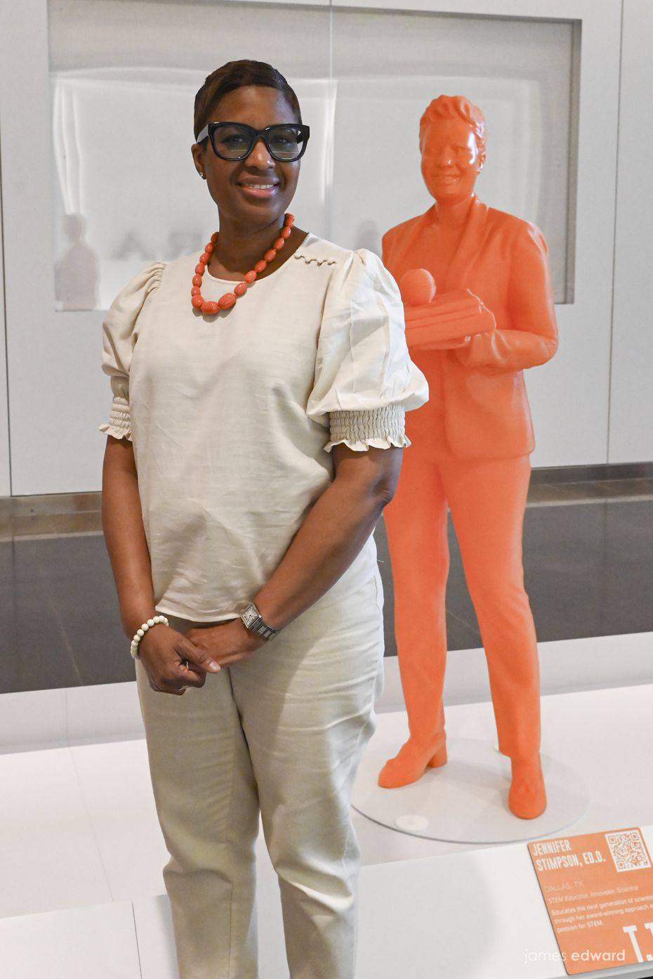 """Jennifer Stimpson is one of more than 120 featured STEM professionals, including 10 from North Texas, in """"#IfThenSheCan — The Exhibit"""" at NorthPark Center."""