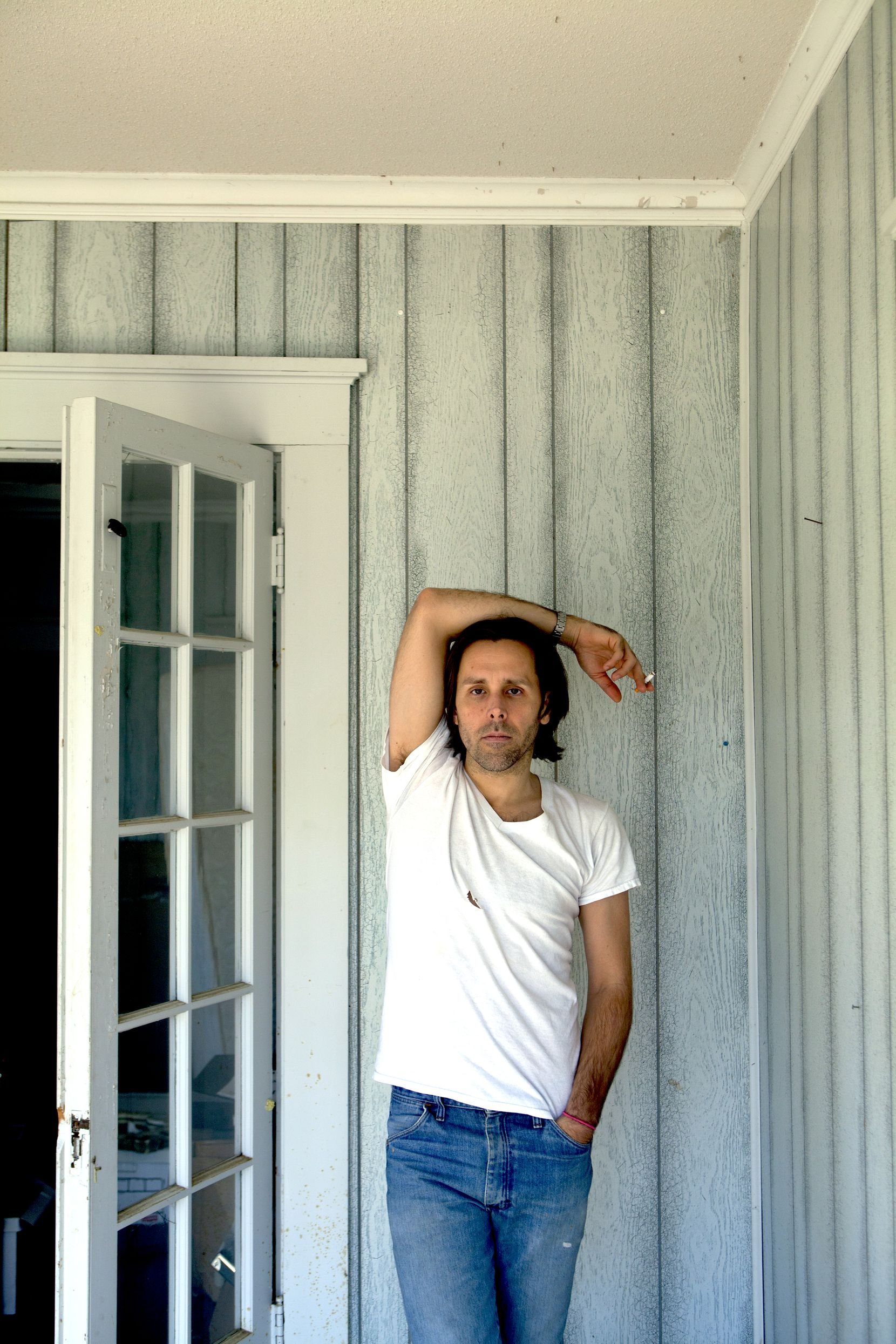 """Artist Chivas Clem works out of his house/studio in Paris, Texas. His works are on view through Feb. 20 at Erin Cluley Gallery in a group exhibition called """"(Un)Controlled."""""""