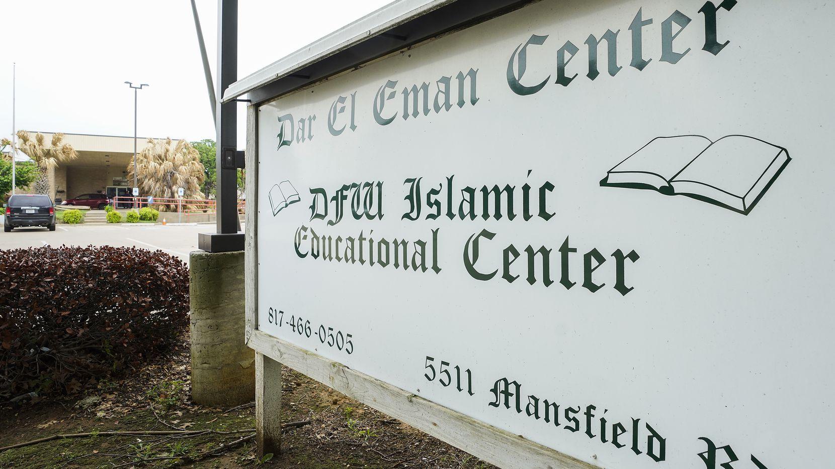 Dar El-Eman Islamic Center on Mansfield Road in Arlington.