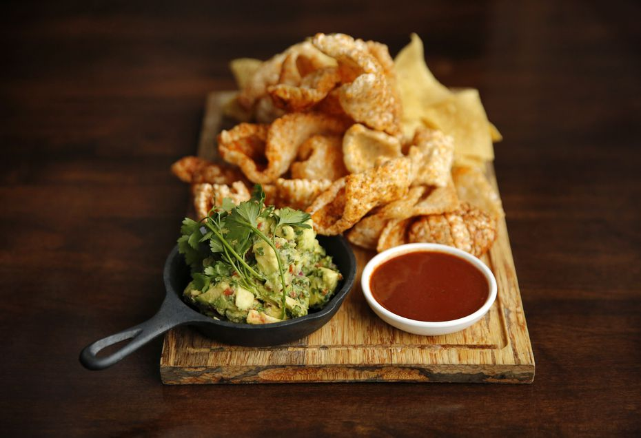 Primo's, the shuttered Tex-Mex restaurant on McKinney Avenue, reopened under new management in the same spot. At the new restaurant, guacamole comes served with pork rinds and corn chips.