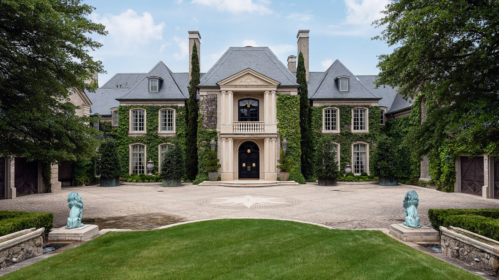 The estate at 4444 Valley Ridge Road in Preston Hollow is surrounded by 4.4 gated acres.
