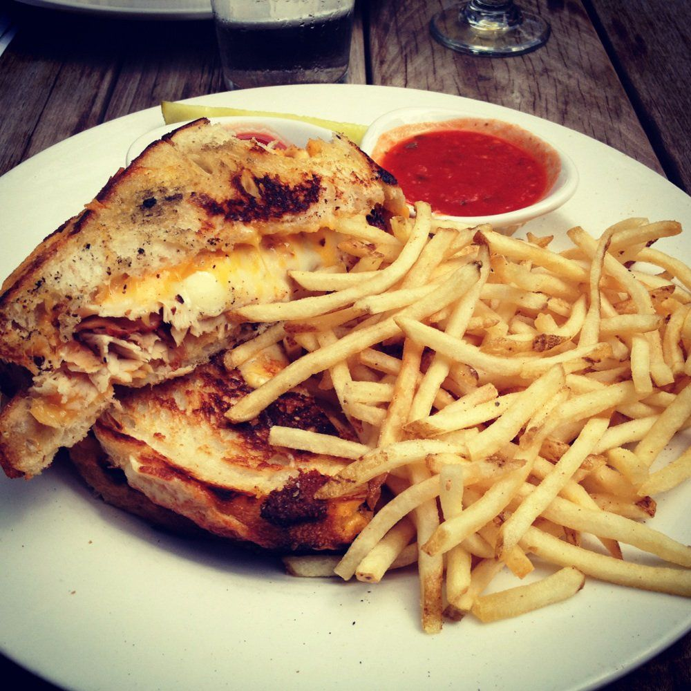 The meaty grilled cheese at the Common Table.