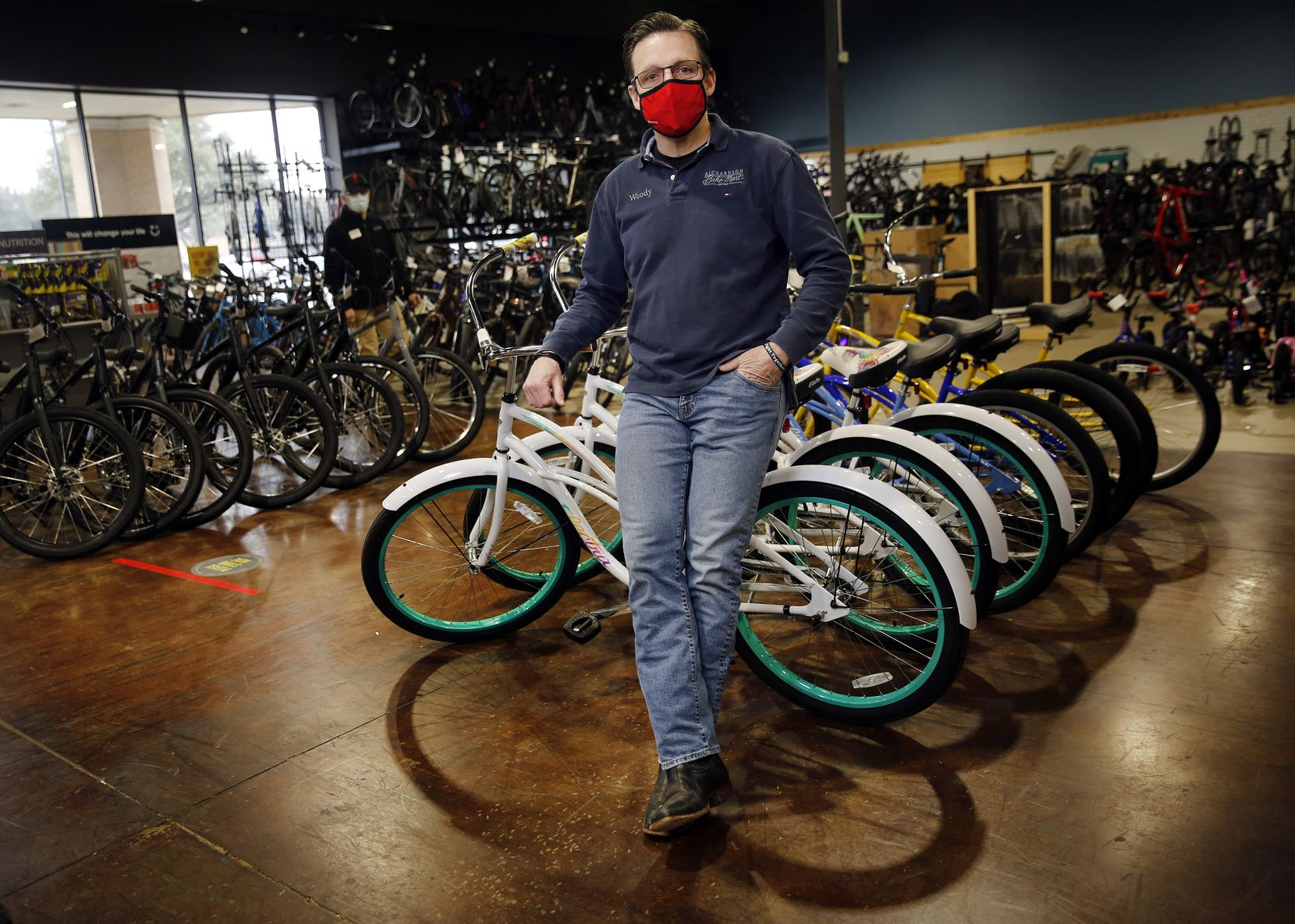 Richardson Bike Mart owner Woody Smith has bikes in his four local stores because he's broadened the brands he carries and is placing 10 times the orders he did before the pandemic. That hasn't eliminated waiting lists for the most popular models, but it has made some customers happy who aren't set on a certain bike.