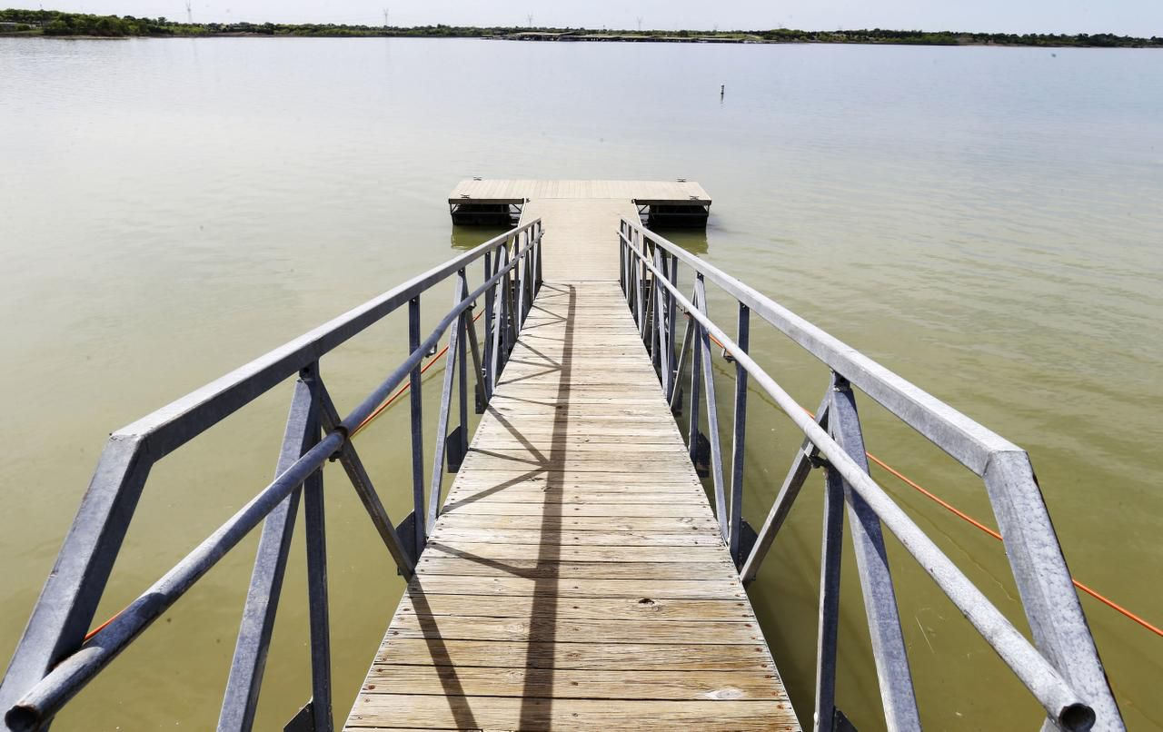 In October, one of the docks at East Fork Park at Lavon Lake sat on dry land. The lake, just north of Wylie in Collin County, has risen from 47.2 percent of conservation capacity three months ago to 80.6 percent on Thursday.