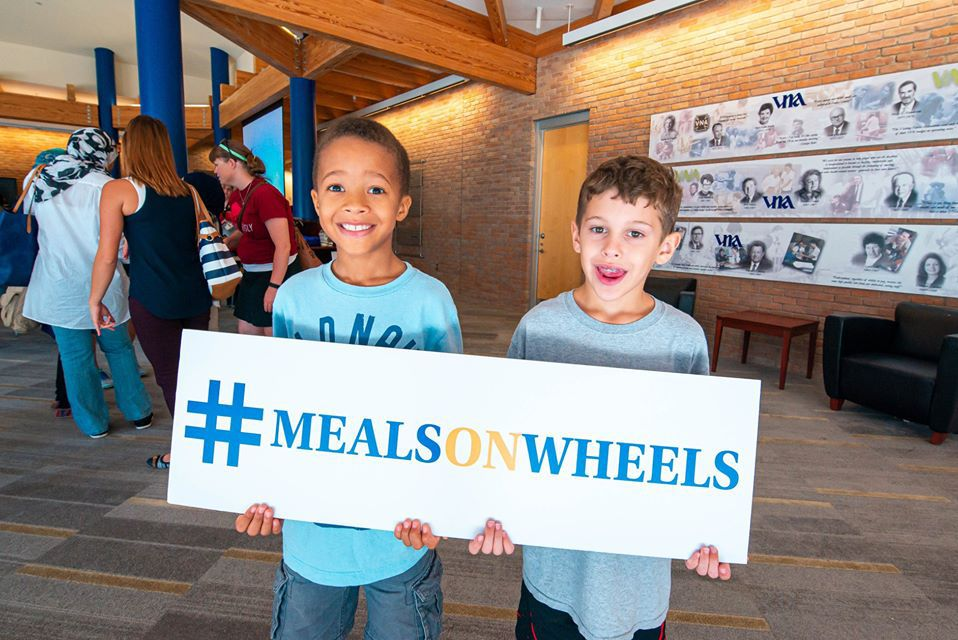 Children are welcome with their parents when delivering Meals on Wheels.