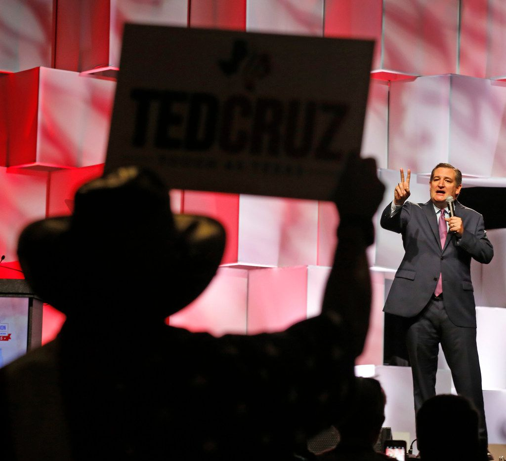 U.S. Sen. Ted Cruz addresses the crowd during the 2018 Texas GOP Convention at the Henry B. Gonzalez Convention Center in downtown San Antonio on June 16, 2018.