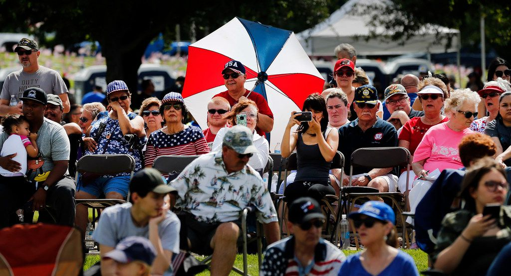 Red, white and blue was plentiful during Monday's event.