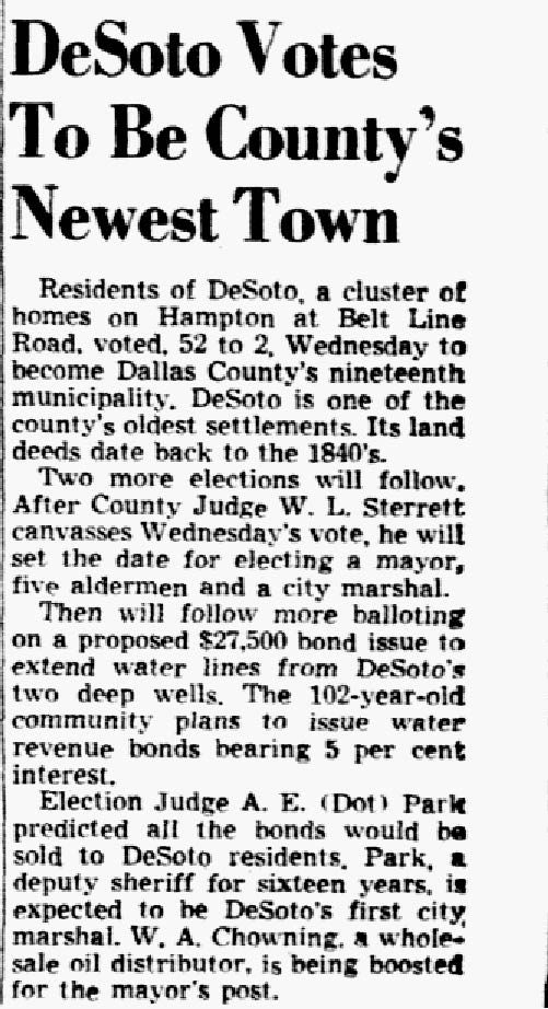 Clip from March 3, 1949 of The Dallas Morning News.