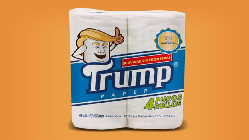 Papel sanitario Trump.  (Foto: Cortesía Antonio Battaglia