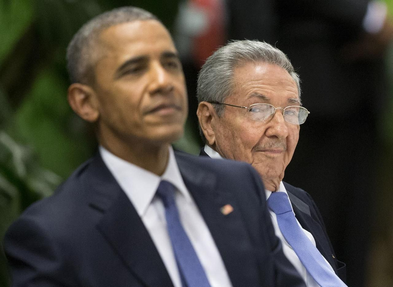 Barack Obama asistió a una cena de estado ofrecida por el presidente de Cuba Raúl Castro.(AP)