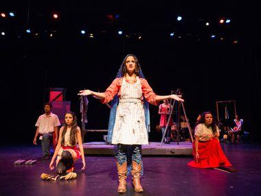 "Cara Mia Theatre Company performs ""Milagritos"" at the Latino Cultural Center in Dallas on December 6, 2012."