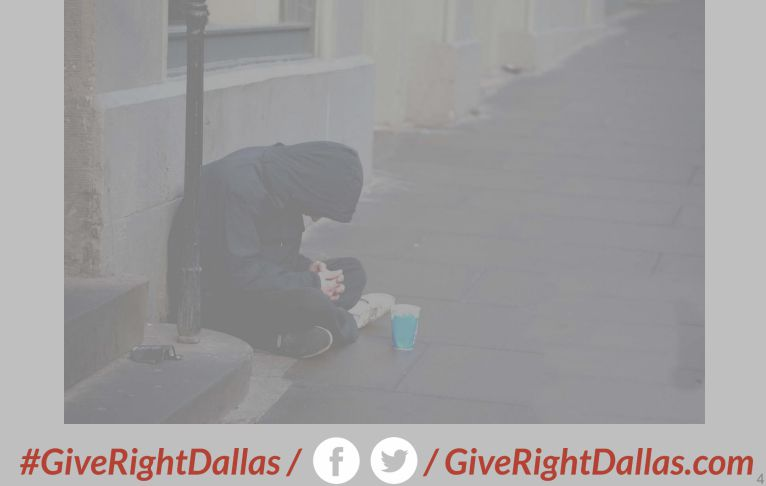 Some proposed artwork presented to the Dallas City Council on Monday. Council members said the image is misleading and makes it look like a homeless program, not something targeting aggressive panhandlers.