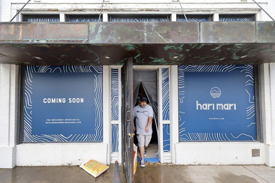 Exterior view of the future Hari Mari store at 3213 Knox Street in Dallas.