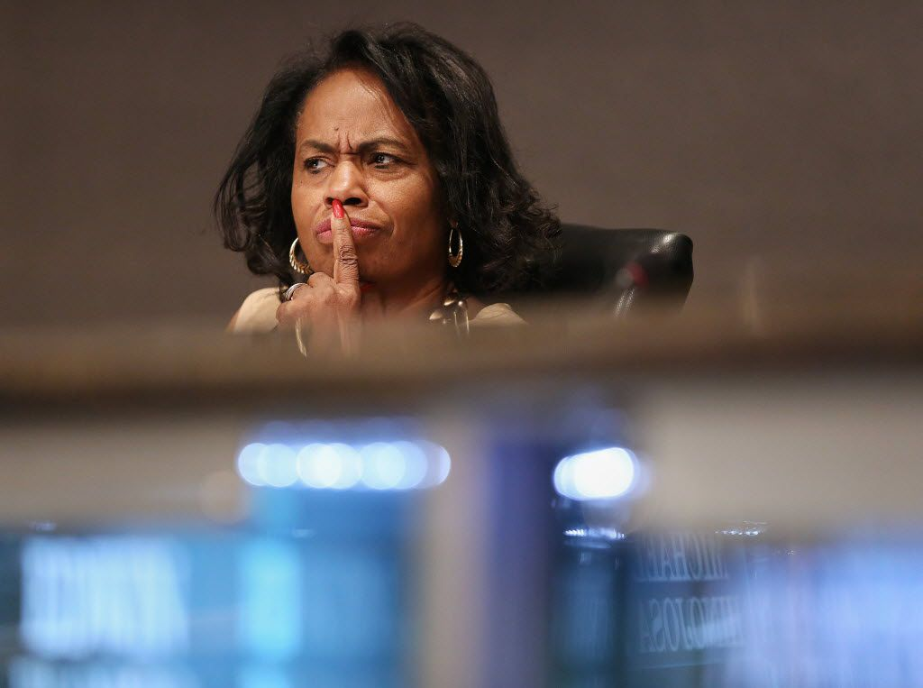 Dallas ISD trustee Joyce Foreman of District 6, shown during a meeting in 2016, asked the Dallas City Council for a moratorium on new charters in her trustee district, which covers southwest Dallas.