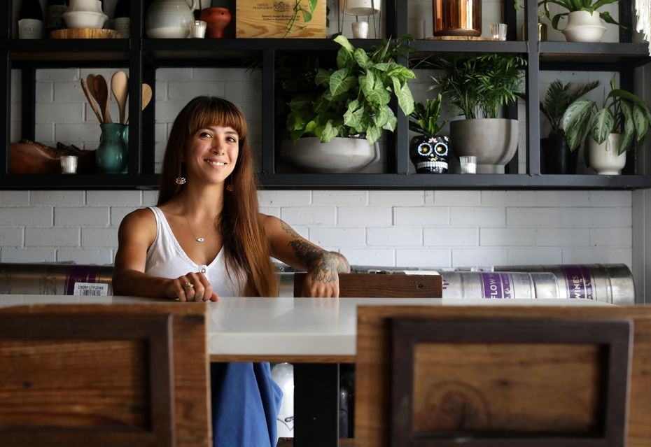 Karla Gallegos photographed at Leela's Wine Bar in Dallas, TX, on Aug. 4, 2021.  (Jason Janik/Special Contributor)