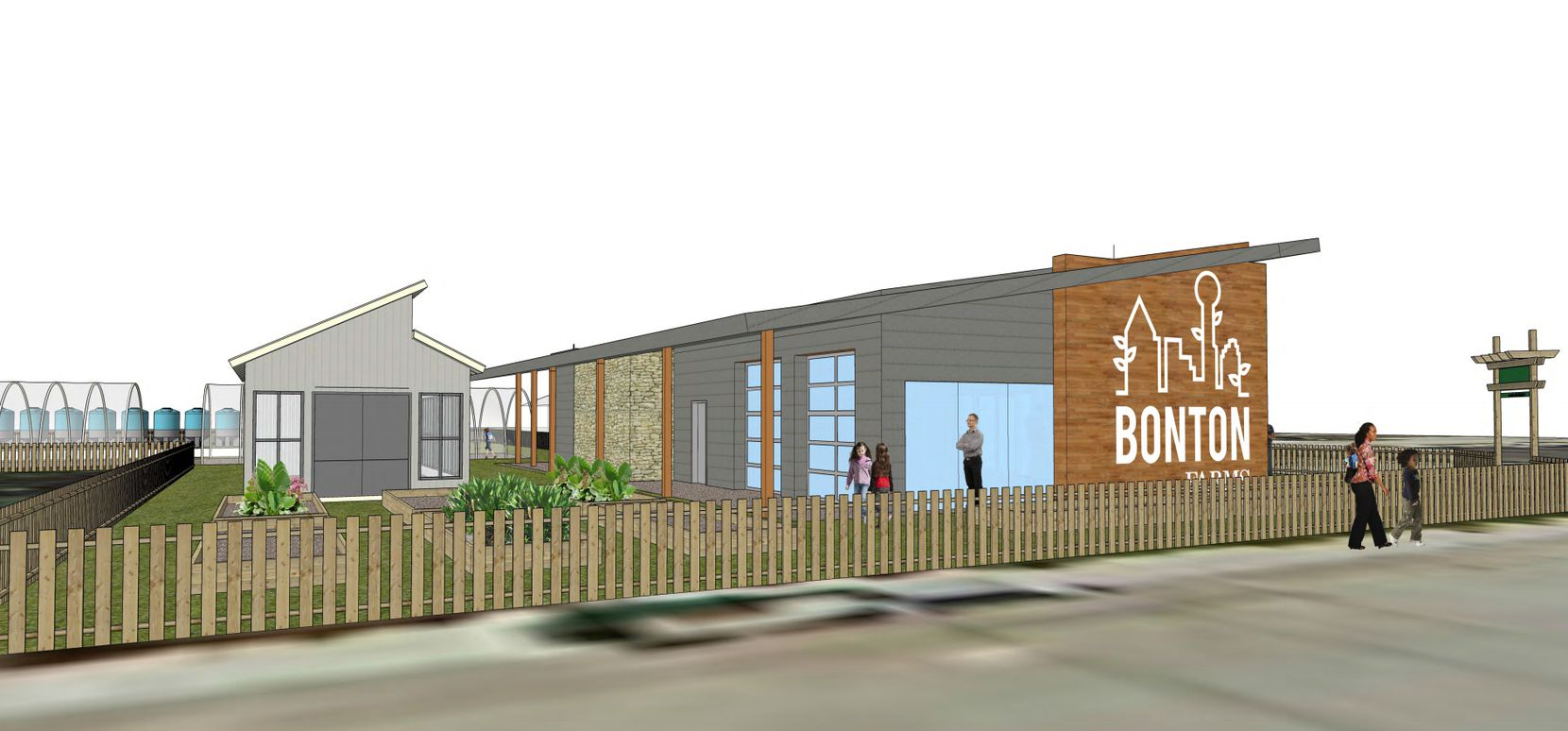 Two renderings of Bonton Market, which Daron Babcock hopes will begin construction within the next six weeks.