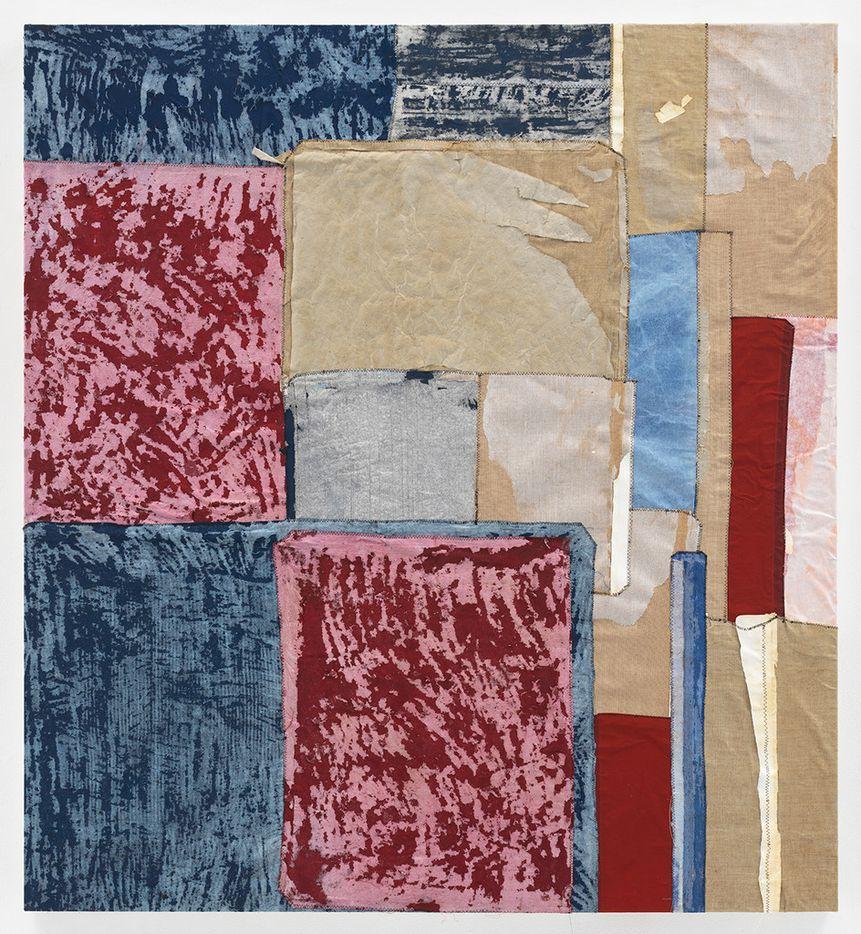 Samuel Levi Jones Intercalate, 2018; deconstructed print portfolios on canvas