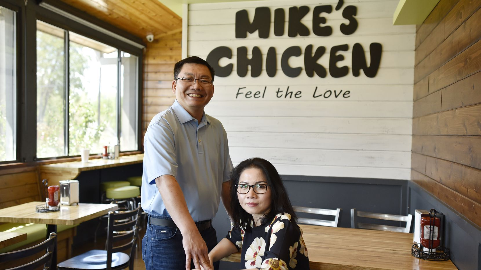 Son Dao, left, and Tram Dao, co owners of Mike's Chicken on Maple Avenue in Dallas, Tuesday Sept. 17, 2019. Ben Torres/Special Contributor