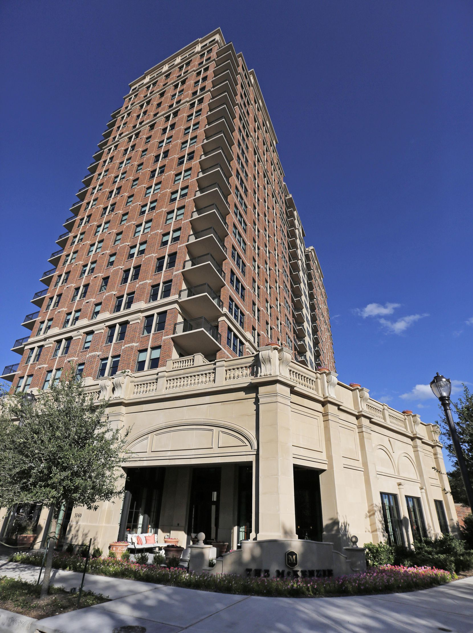 The McKenzie, a new luxury residential tower on the edge of Highland Park, has 183 units.