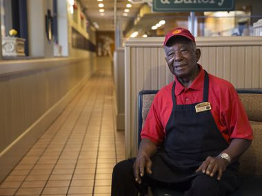 "Ernest ""Mr. B"" Bowens, 87, is not only one of the cooks at Highland Park Cafeteria in the Casa Linda shopping center, he's also the heart and soul of this longtime Dallas institution."