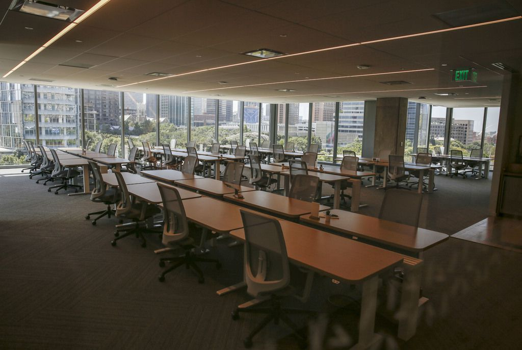 One of the team suites at Hana, the first of a new nationwide chain of co-working centers that opened in Uptown Dallas in 2019.